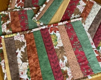 """Fall Leaves Quilted Placemats, Set of 4, 12.5""""x18.5"""""""