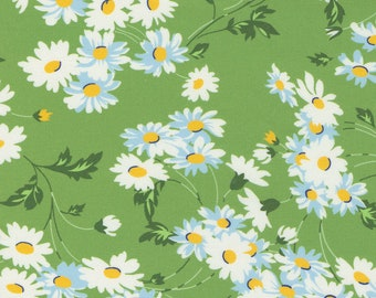 Real Daisy Green from Story Time Collection by American Jane for Moda Fabrics