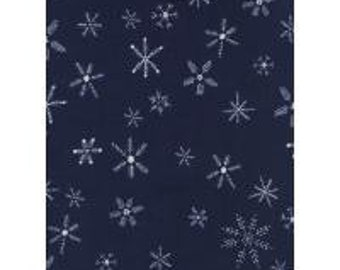 Flurry Navy from Frost Collection by Alexia Abegg for Cotton + Steel