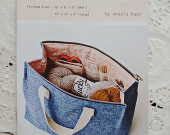 Kit Supply Tote Paper Pattern by Aneela Hoey