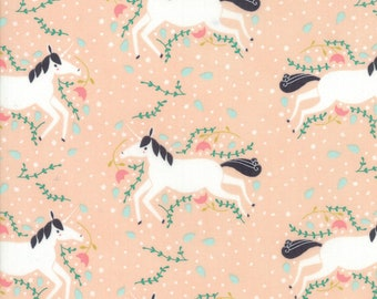 Unicorns Galore Blush from Enchanted Collection by Gingiber for Moda Fabrics