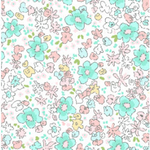 More 100/% Cotton Floral Plockade Summer Michael Miller Fabric By Sarah Jane FQ