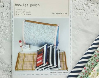 Booklet Pouch Pattern by Aneela Hoey