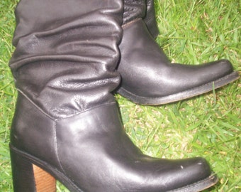 Vintage Authentic Loblan Made in Venezuela Black Women's Leather  Boots