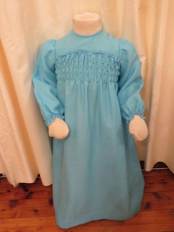 NEW Vintage 60s 70s Aquamarine Little Girl's Maxi… - image 2