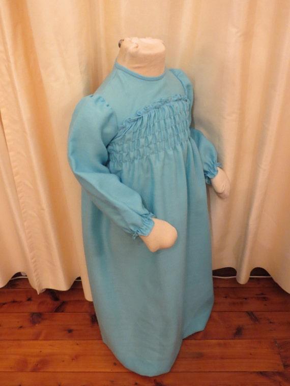 NEW Vintage 60s 70s Aquamarine Little Girl's Maxi… - image 3