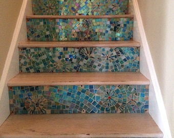 Mossic Stair Risers