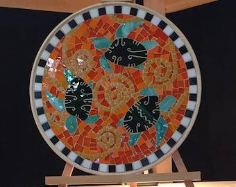 Orange Sea Turtle Platter