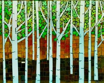 Birch Tree Backsplash