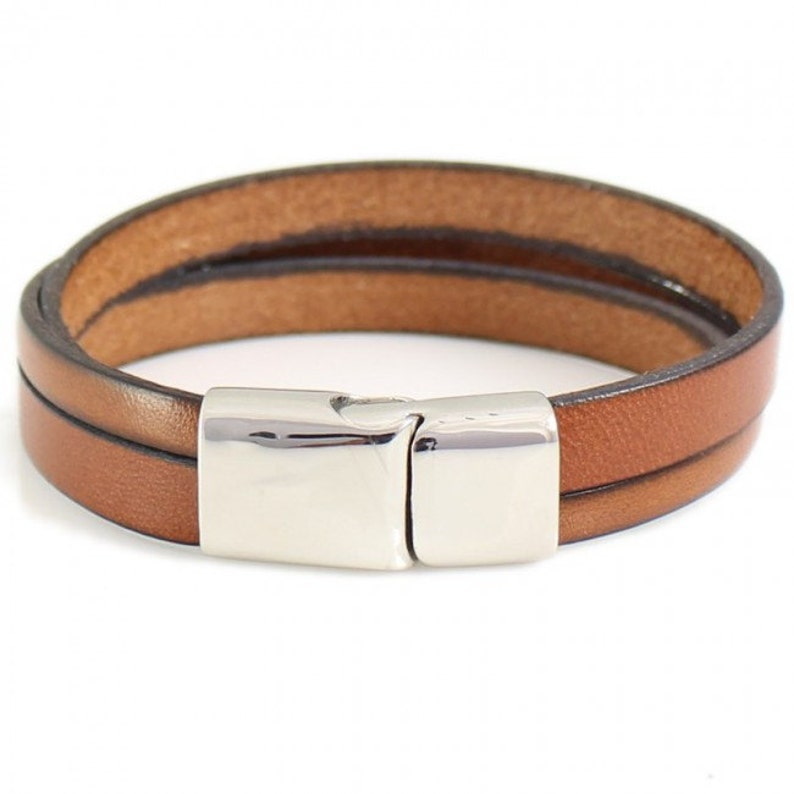 Personalized Bracelets Stamped Leather Bracelets Leather Bracelets for Men or Woman Leather Bracelet with name or text