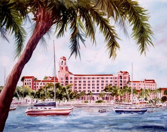8 x 10 print of any of my Watercolor images, YOU PICK WatercolorsNmore Florida art home decor