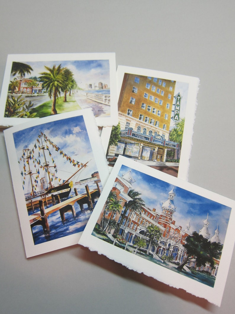 Tampa Florida Historical Landmarks 4 cards Assortment 5 x 7 image 0