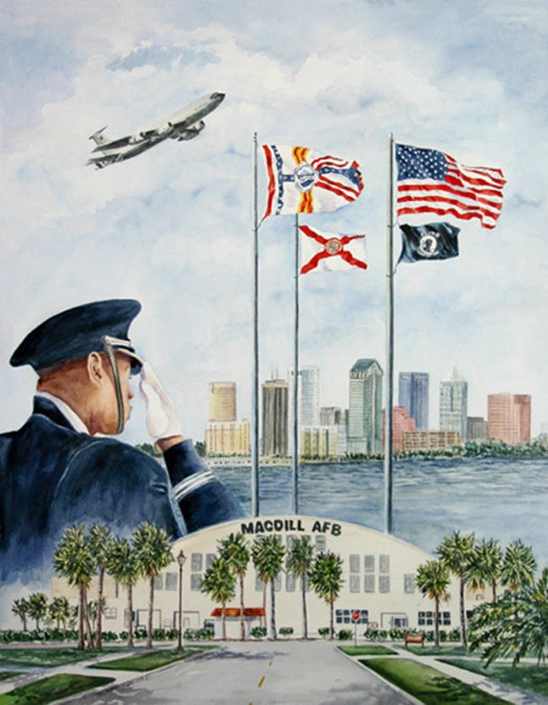 Salute MacDill AFB Collage 11 x 15  or 8 x 11 Prints by image 0