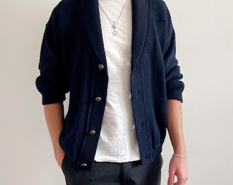 Vintage Men's Navy Cardigan