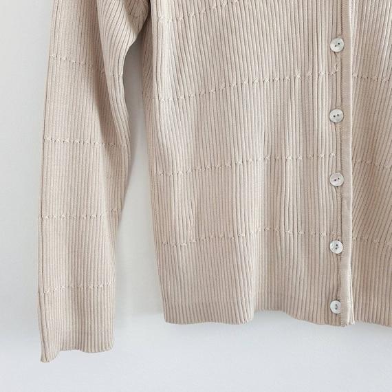 90s Tan Cropped Cardigan - image 2