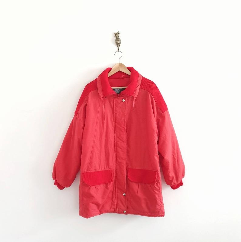 Vintage Red Winter Coat