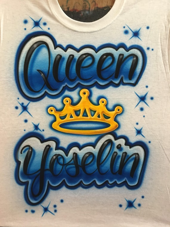 57369ce1 Airbrush Queen Shirt with Tiara Crown Personalized with Name | Etsy