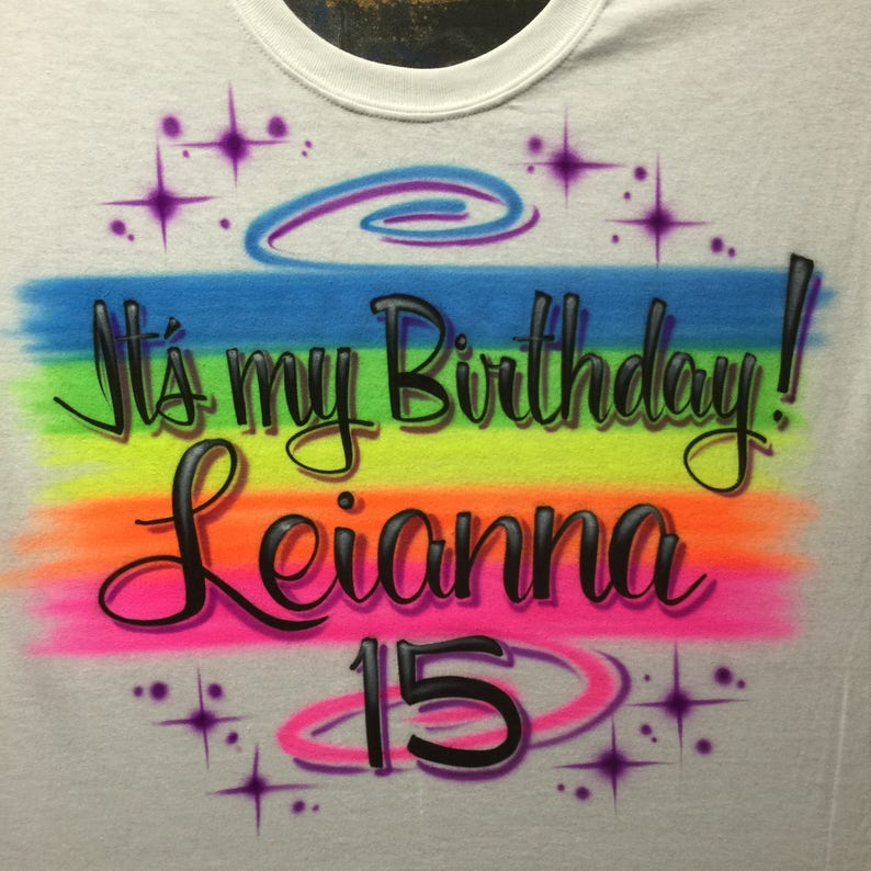 5981d0c15 Airbrush T Shirts Retro 80s 90s Airbrushed It's My   Etsy