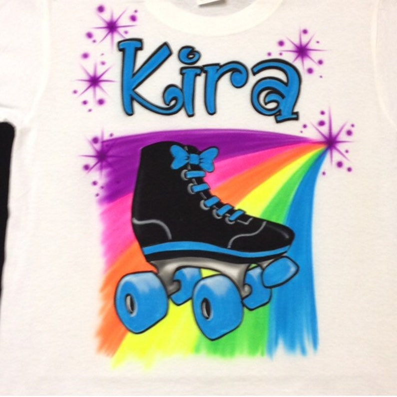 0227a0bf Airbrush Roller Skate Shirts Personalized with Name T-Shirt | Etsy