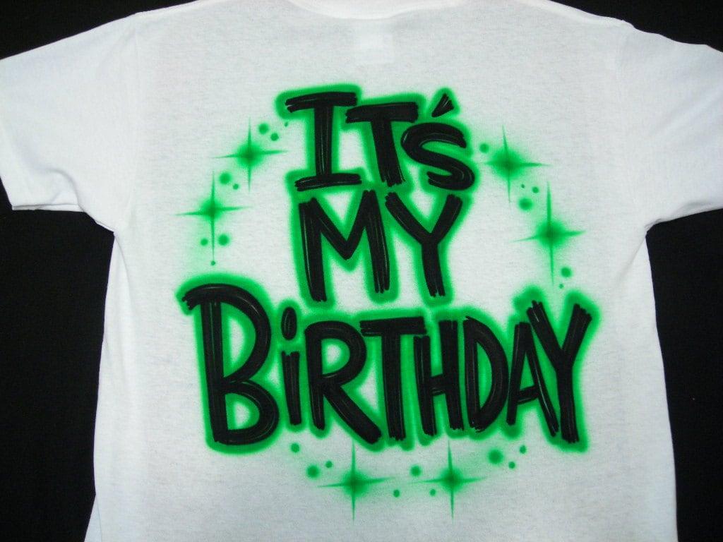 c646d422 Airbrush Birthday T Shirts with Custom Name size S M L XL 2X | Etsy