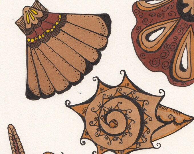 Zen Sea Shells Cards
