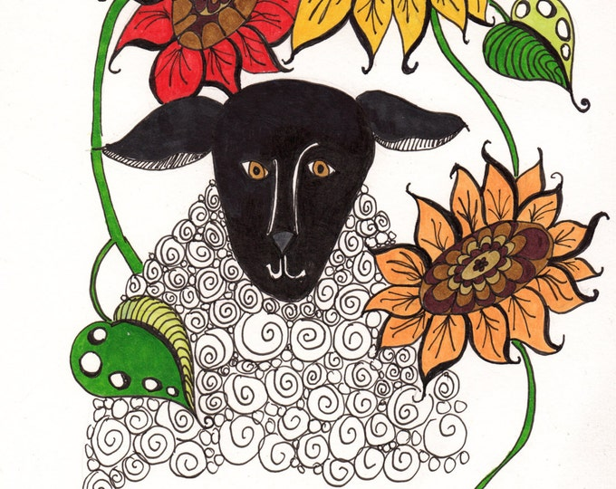 Sheep and Sunflowers Cards