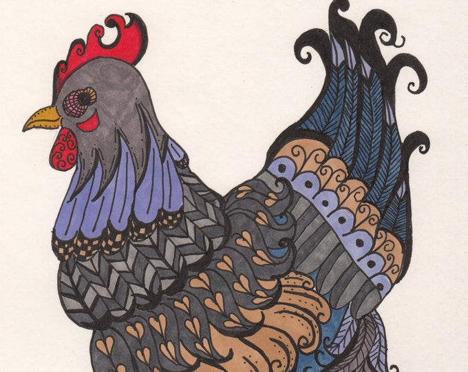 Stepping Out Hen Cards