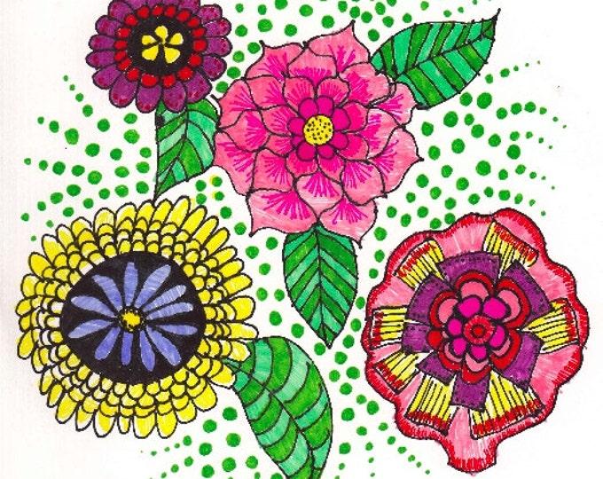 The Zen Doodle Zinnea Cards