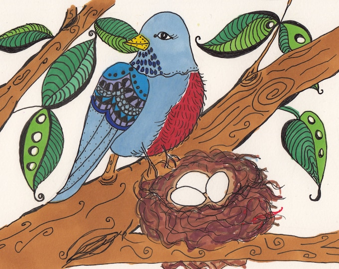 Blue Bird Nesting Cards