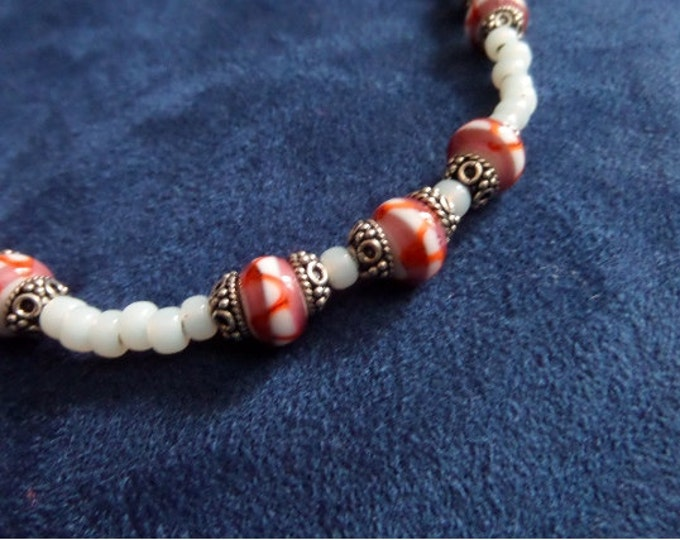 Orange Lampwork Bead Necklace