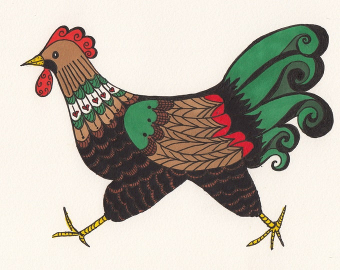 Rooster on the Run Cards