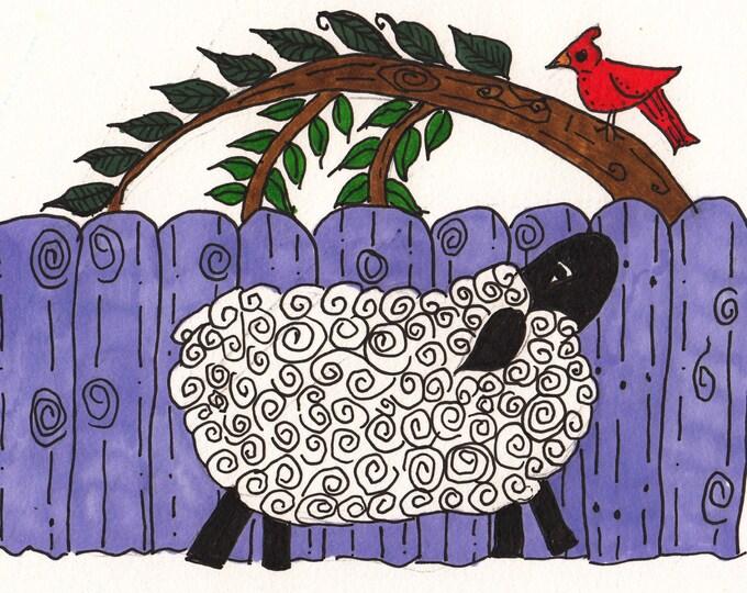 Sheep and Cardinal Cards