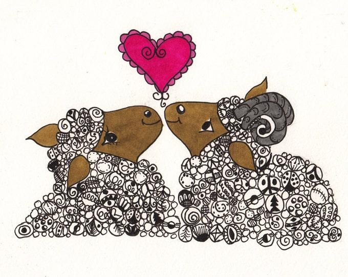 I Love Ewe Cards