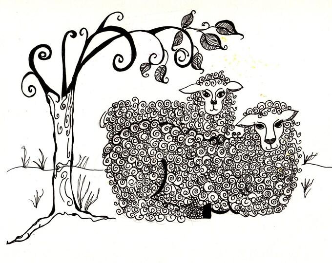 Lamb and Ewe Cards