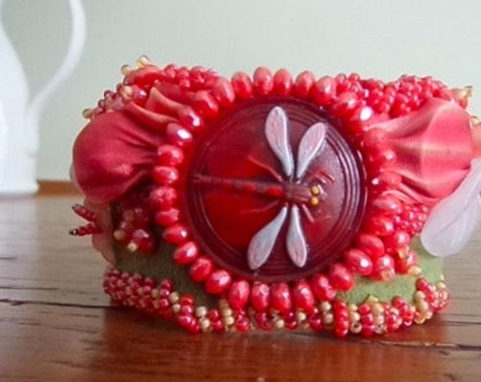 Dragonfly Forever Cuff Bracelet