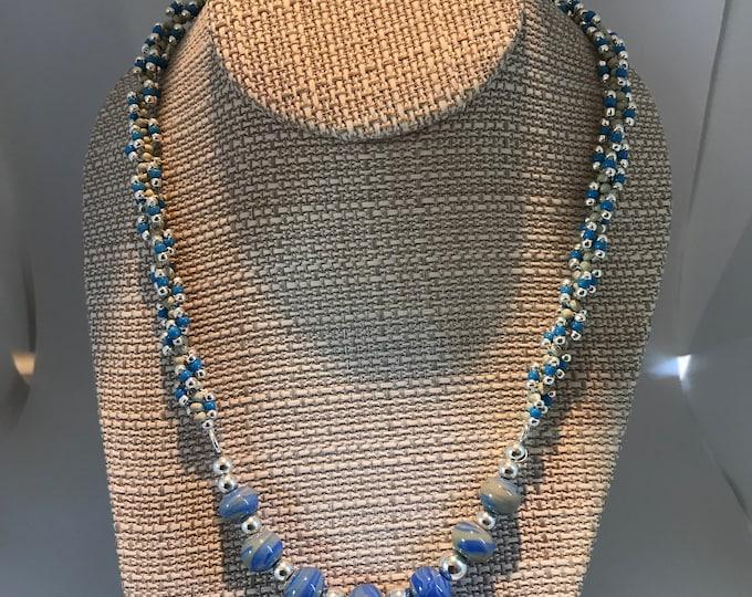 Swirls of Blue Necklace