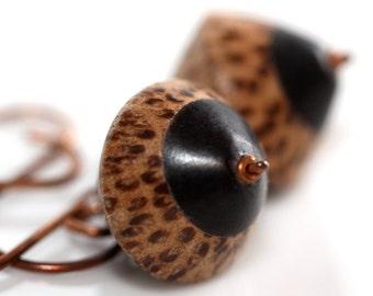 Black and Brown Earrings - 'Faithful Polygamist'
