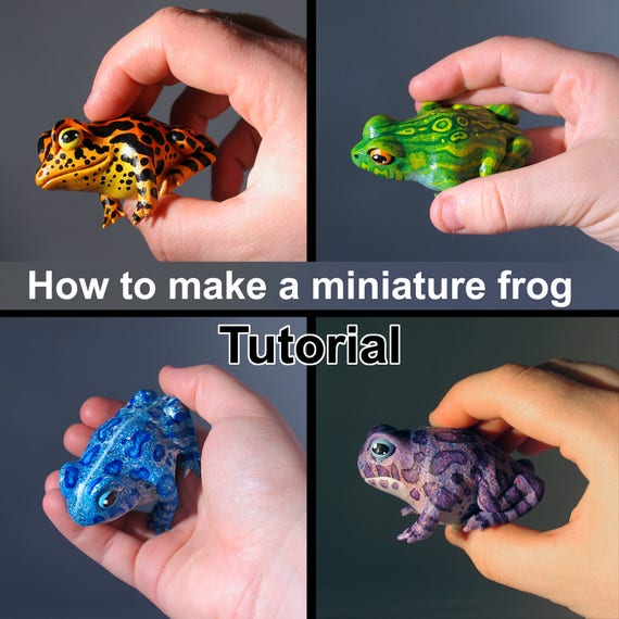 TUTORIAL: How to make your own Miniature Gourd Frog!
