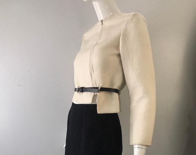 90s GEOFFREY BEENE minimal assymetrical skirt SUIT blazer 1990s vintage 4