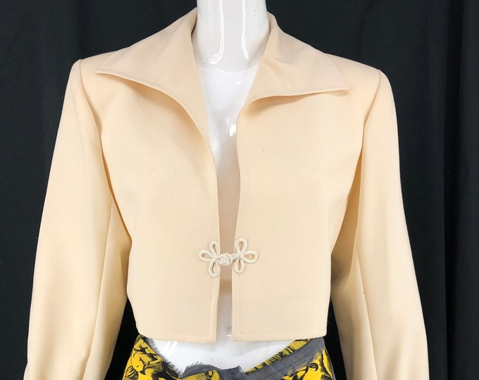 70s YSL Yves Saint Laurent cream bolero jacket 44