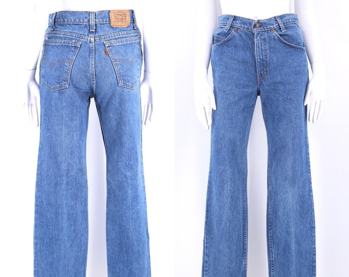 70s 80s LEVIS Student Fit orange tab 705 high waist jeans 29 / vintage 1970s 1980s vintage wash sexy fit Levis denim pants 29 x 32