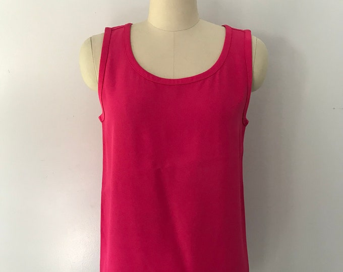 80s YSL Yves Saint Laurent jewel tone camisole shell tank TOP 38 8 vintage 1980s 70s