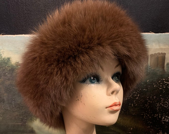 1980s FOX Fur Headband