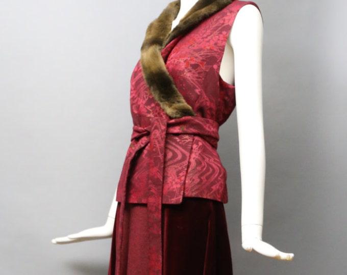 90s KENZO brocade kimono wrap evening set