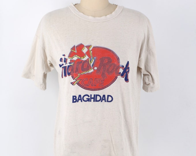 90s Hard Rock Cafe Baghdad Operation Desert Storm 1991 vintage graphic T shirt M