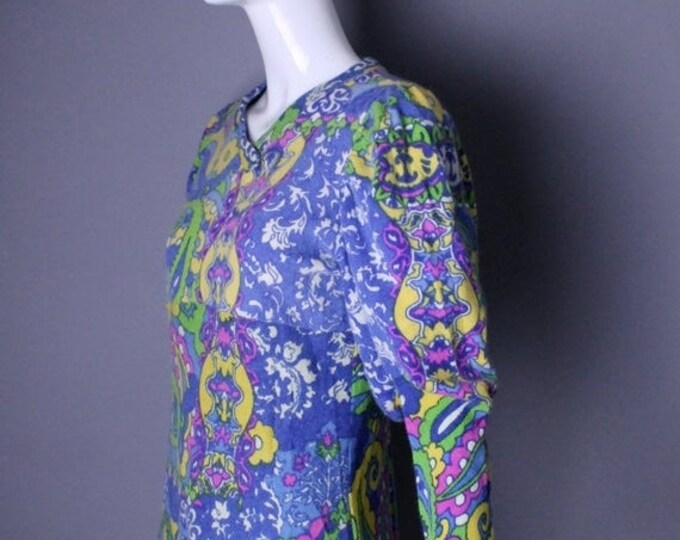 25% OFF 1990s FIORUCCI Italy Dee Lite Pucci print psychedelic club kid sweater & tights outfit leggings vintage rare 1980s L