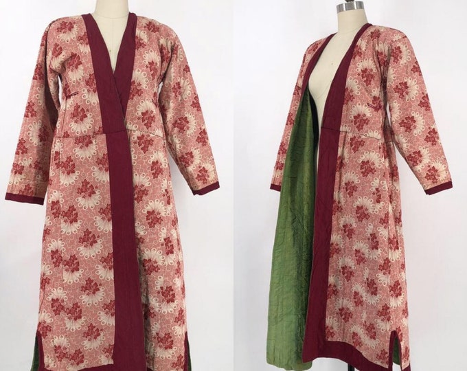 1800s IKAT UZBEK printed cotton coat