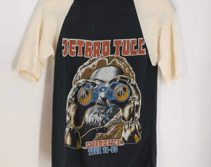 70s JETHRO TULL band T shirt / Stormwatch tour 79-80 sweet wizard graphics vintage rock t shirt size S