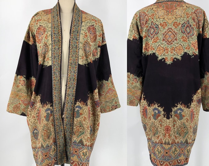 20s ETHNIC PATTERNED Art Deco duster