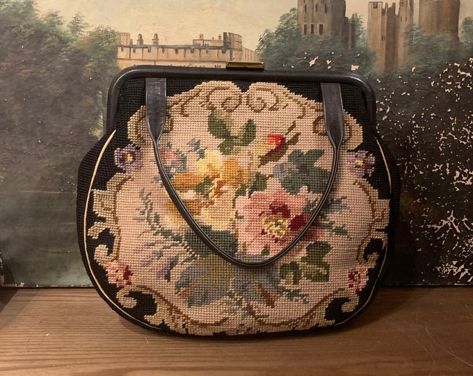 1950's Needlepoint Purse
